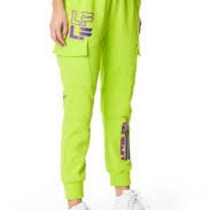 LF neon green sweatpants size Small